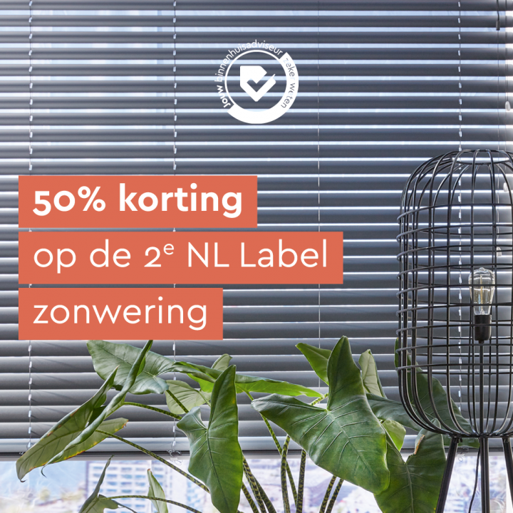 2e product 50% korting